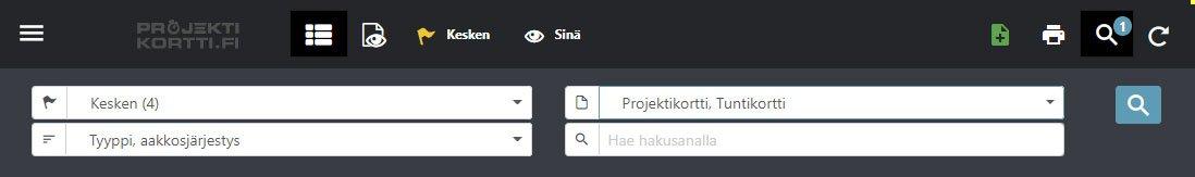 Projektikortti.fi - hallitse, kerää ja suodata kortteja